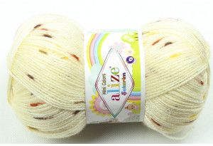 Пряжа Alize Sekerim Mini Colors, #4774, кремовая