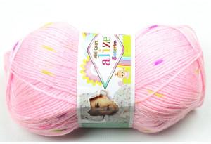 Пряжа Alize Sekerim Mini Colors, #4458, розовая