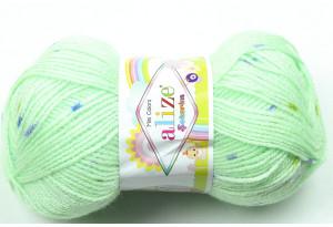 Пряжа Alize Sekerim Mini Colors, #3998, мятная