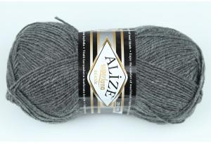 Пряжа Alize SuperLana Klassik, #182, темно-серый меланж