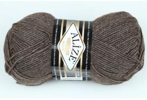 Пряжа Alize SuperLana Klassik, #240, серо-коричневый меланж