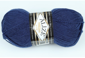 Пряжа Alize SuperLana Klassik, #215, темно-синяя