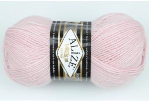 Пряжа Alize SuperLana Klassik, #272, бледно-розовая