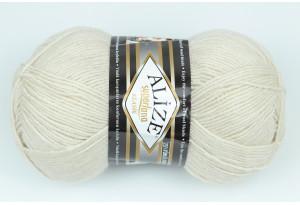 Пряжа Alize SuperLana Klassik, #599, кремово-серая