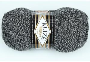 Пряжа Alize SuperLana Klassik, #601, серо-белый меланж