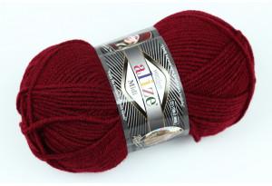 Пряжа Alize SuperLana Midi, #57, вишневый