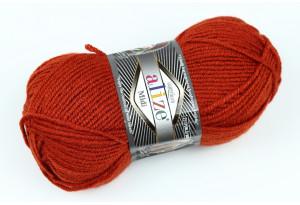 Пряжа Alize SuperLana Midi, #36, красно-рыжая
