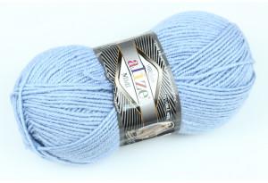 Пряжа Alize SuperLana Midi, #480, голубая