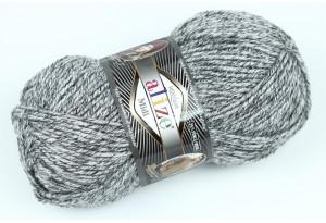 Пряжа Alize SuperLana Midi, #801, серый меланж