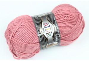 Пряжа Alize SuperLana Midi, #204, розово-лиловая