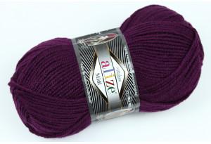 Пряжа Alize SuperLana Midi, #111, фиолетово-баклажанная