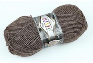 Пряжа Alize SuperLana Midi, #240, коричневый меланж