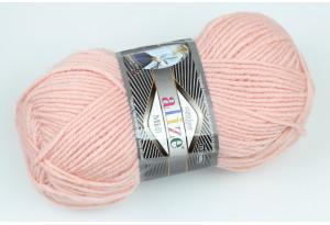 Пряжа Alize SuperLana Midi, #523, пастельно-розовая