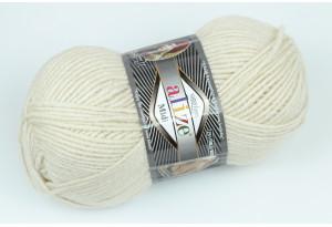 Пряжа Alize SuperLana Midi, #599, кремово-серая