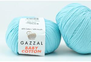 Пряжа Gazzal Baby Cotton, #3451, светло-бирюзовая