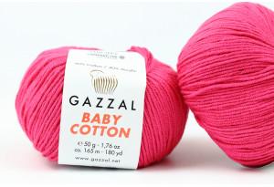 Пряжа Gazzal Baby Cotton, #3415, малиновая