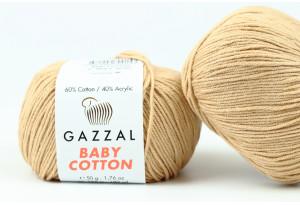 Пряжа Gazzal Baby Cotton, #3424, кофе с молоком