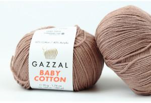 Пряжа Gazzal Baby Cotton, #3434, кокосовая