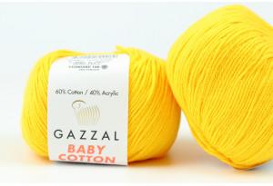 Пряжа Gazzal Baby Cotton, #3417, желток