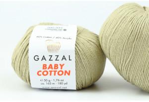 Пряжа Gazzal Baby Cotton, #3464, светлый хаки