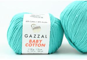 Пряжа Gazzal Baby Cotton, #3426, морская волна