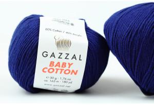 Пряжа Gazzal Baby Cotton, #3438, сапфировая