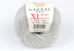 Пряжа Gazzal Baby Wool XL, #817, светло-серая