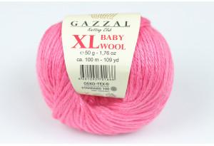 Пряжа Gazzal Baby Wool XL, #831, пастельно-розовая