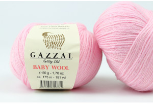Пряжа Gazzal Baby Wool, #836, светло-розовая