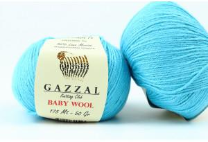 Пряжа Gazzal Baby Wool, #820, бирюзовая