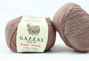 Пряжа Gazzal Baby Wool, #835, кокосовая