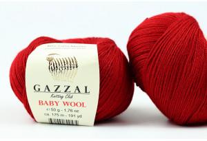 Пряжа Gazzal Baby Wool, #816, бургунди