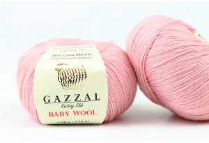 Пряжа Gazzal Baby Wool, #845, пыльная роза