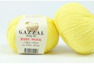 Пряжа Gazzal Baby Wool, #833, желтая
