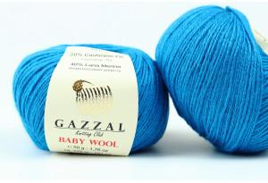Пряжа Gazzal Baby Wool, #822, темно-бирюзовая