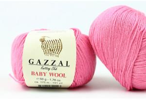 Пряжа Gazzal Baby Wool, #831, розово-лиловая