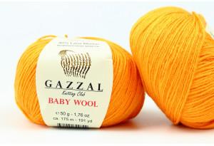 Пряжа Gazzal Baby Wool, #837, золотая