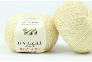 Пряжа Gazzal Baby Wool, #829, кремовая