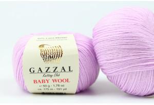 Пряжа Gazzal Baby Wool, #823, лиловая