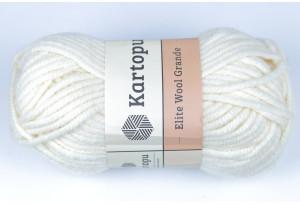 Пряжа Kartopu Elite Wool Grande, #025, молочная