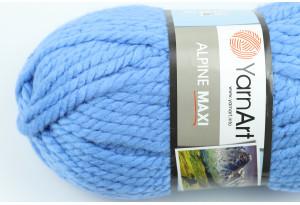 Пряжа YarnArt Alpine MAXI, #668, светло-синяя
