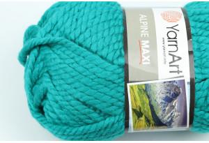 Пряжа YarnArt Alpine MAXI, #675, изумрудная