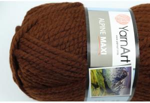Пряжа YarnArt Alpine MAXI, #663, шоколадная