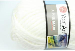 Пряжа YarnArt Alpine MAXI, #676, айвори