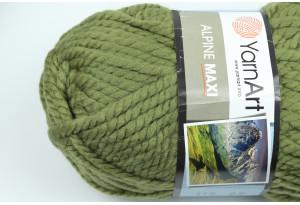 Пряжа YarnArt Alpine MAXI, #670, темно-оливковая