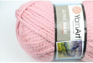 Пряжа YarnArt Alpine MAXI, #673, розовая