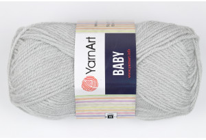 Пряжа YarnArt Baby, #855, светло-серый