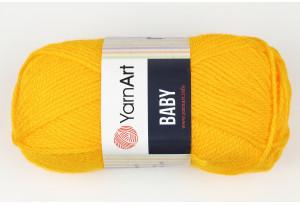 Пряжа YarnArt Baby, #586, темно-желтая