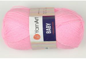 Пряжа YarnArt Baby, #217, розовая