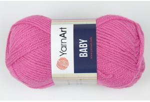 Пряжа YarnArt Baby, #560, пастельная фуксия